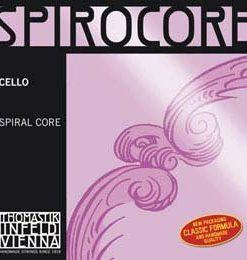 Thomastik-Infeld Spirocore 4/4 Cello D String - Chromesteel/Steel - Medium Gauge